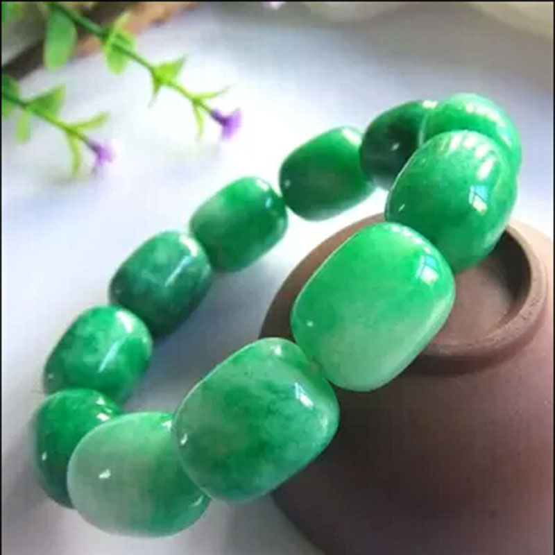100% NEW Natural green jade bracelet Fashion jewelry Women and men can wear for gift(China (Mainland))