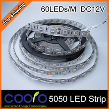 LED Strip 5050 SMD fiexible light 60Led/m,5m 300Led,DC 12V,White,Warm White,Red,Green,Blue,Yellow