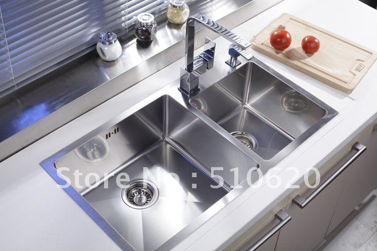 Buy FR513 Luxury Kitchen stainless steel Double bowls man craft sink ...