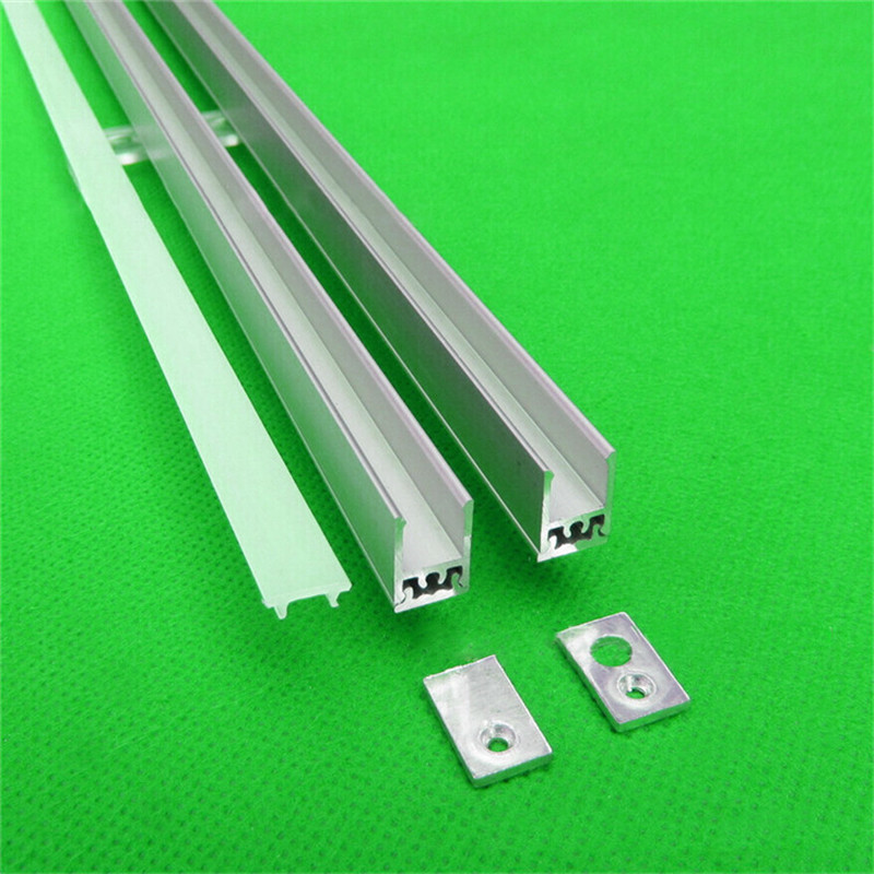 10pcs/lot 40inch 1m led strip channel , ultra slim 8mm wide led aluminium profile matte for wardrobe ,crack hidden(China (Mainland))