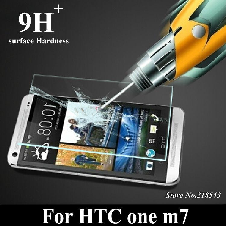 Гаджет  Original Premium Tempered Glass Screen Protector for HTC One M7 Explosion Proof Screen Guard Curved Edges Retail Package +Stylus None Телефоны и Телекоммуникации