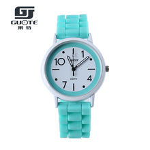 GUOTE Women Dress Wristwatches  Fashion Casual Quartz Women Silicone Strap Watches Colorful Cute Cartoon Watch Relogio Feminino