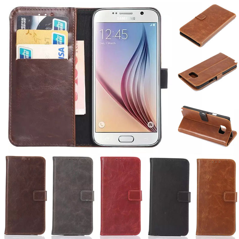 10pcs/lot Retro Crazy Horse Flip Case For Samsung Galaxy Note 5 Accessory Leather Wallet Stand + Card Holder Luxury Cover Cases
