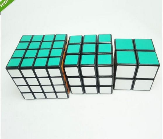 Free Shipping 3pcs/set Shengshou Professional Puzzle GameWhite/Black magic cubes 2x2 3x3 4x4 Puzzle Toys,Magic puzzle cube