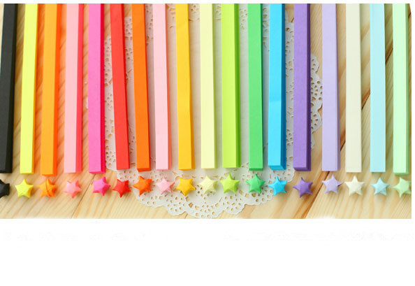 Handcraft Origami Lucky Star Paper Strips Paper Origami Quilling Paper Decoration Color blending(China (Mainland))