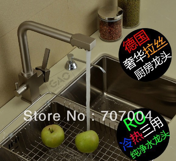 kitchen deck mounted sink faucet Purified water tap cock crane swivel spout new<br><br>Aliexpress