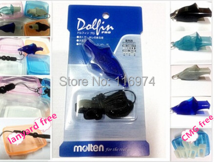 Free shipping10 PCS/LOT colourful Molten whisted dolphin whistle referee whistle football whistle with packing(China (Mainland))