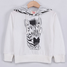 2015 new arrival spring korean version kids clothing fashion zebra pattern boys girls hooded pullover kids casual coat A1550(China (Mainland))