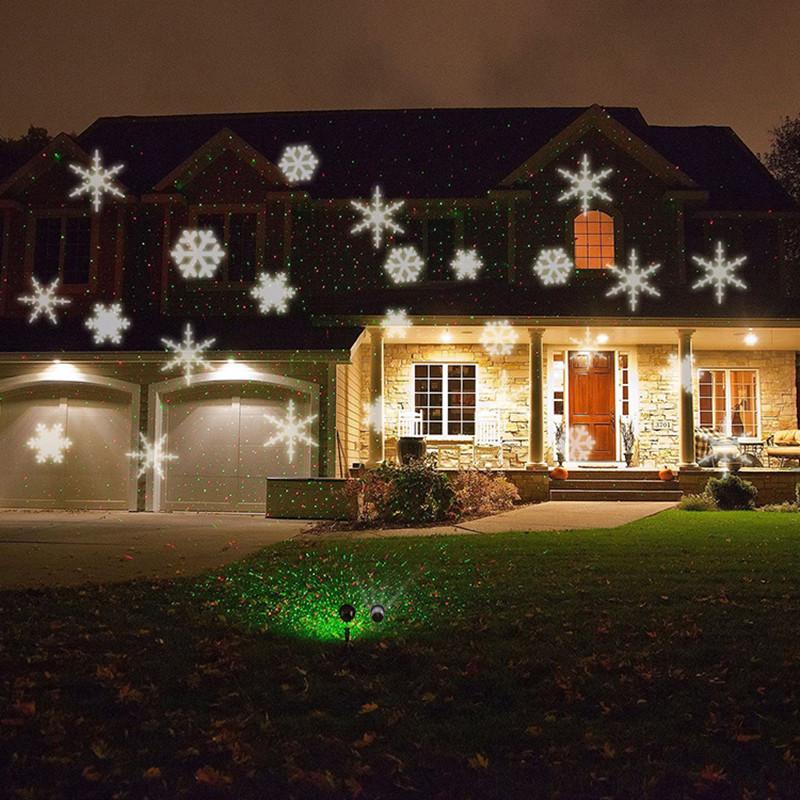 RGB / WHITE Snowflake Automatically Moving IP66 LED Landscape Projector Lighting, Garden Christmas Holiday Decoration Light(China (Mainland))