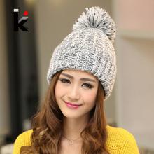 Moda 2016 outono e inverno feminino chapéus venda quente tricô de lã Cap chapéu ao ar livre para mulheres de