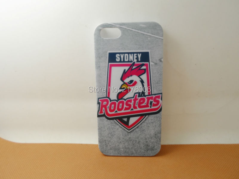 Free Shipping Painting Printed NRL Sydney Roosters White Plastic Hard Skin Cover For Apple iphone 5 5S 5th Cell Phone Case(China (Mainland))