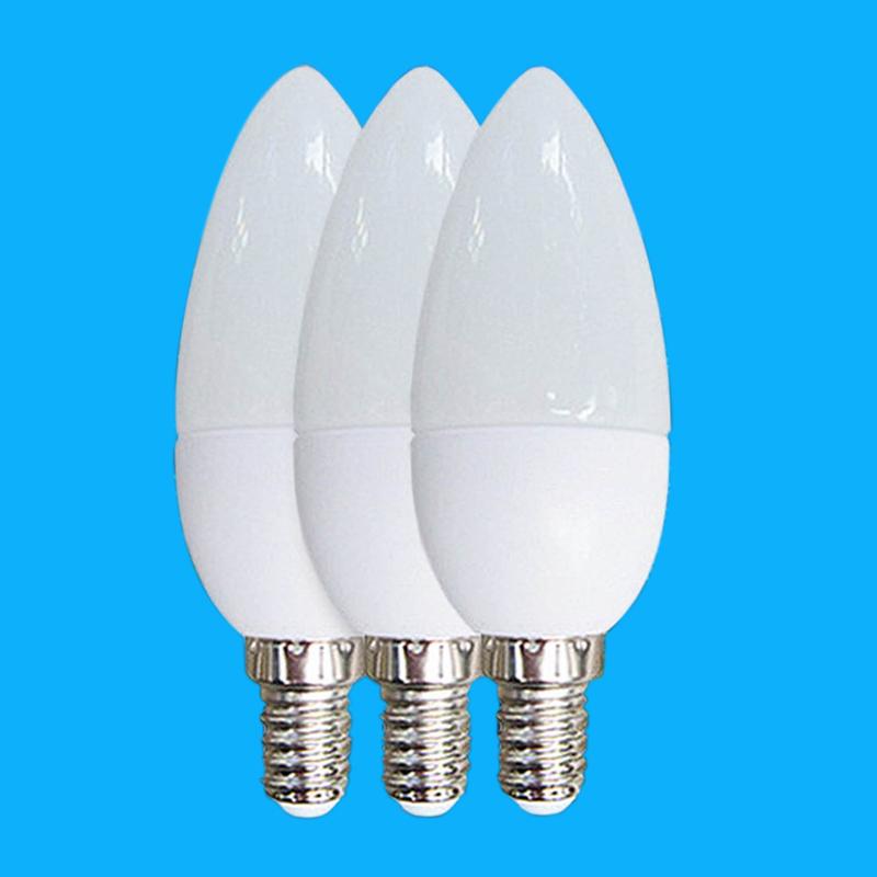 1pcs/lot 5W E14 LED Candle lights AC220V LED Lamp SMD2835 Buld acrylic shell Home Lighting Free Shipping(China (Mainland))