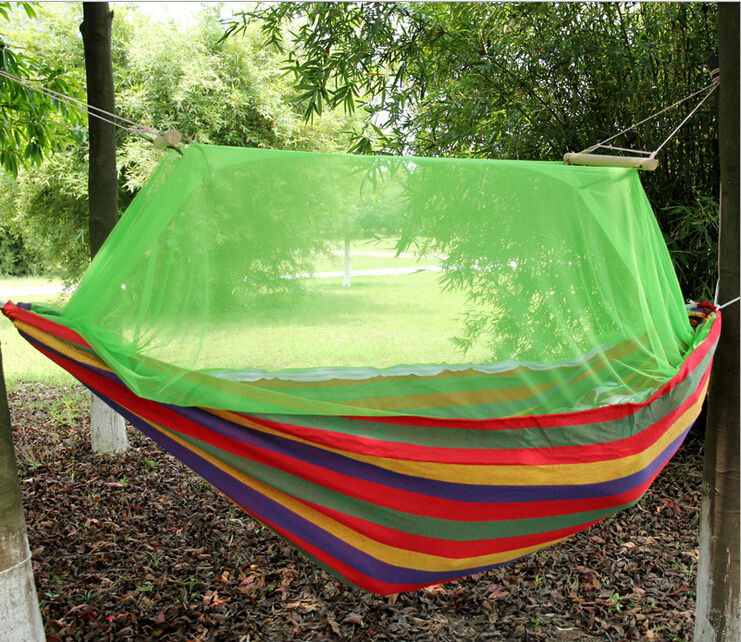 Гаджет  Outdoor Camping Sleeping Hanging Bed 220*150cm Double Canvas Swinging Hammocks Adult Swing Large Garden Mosquito Net Hammock  None Мебель