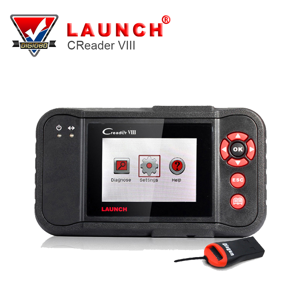 Launch Creader VIII Code Reader 8 Automotive Scan System Launch Engine,Transmission,ABS,Airbag Oil Reset Same Function as crp129(China (Mainland))