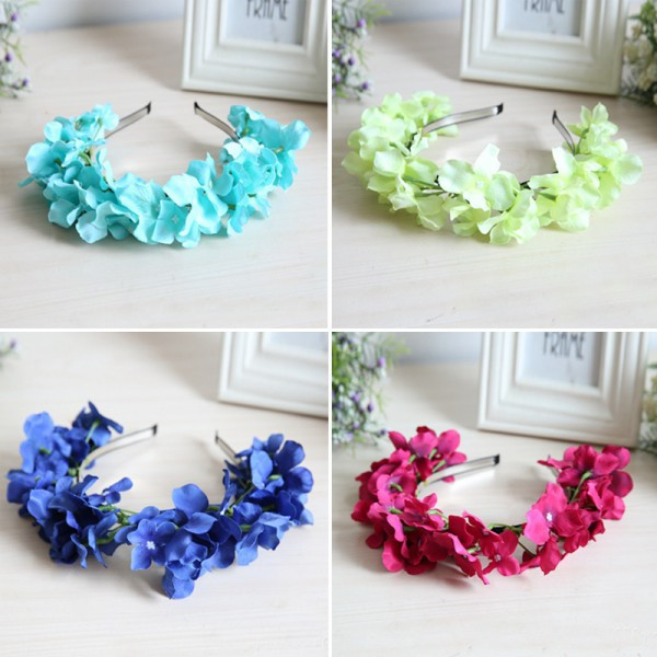 Floral Flower Garland Crown Headband Hair Band Bridal Festival Holiday Wreath 1Pcs New(China (Mainland))