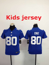 Kids youth Best Quality New York Giants children 11 Phil Simms 13 Odell Beckham Jr. 56 Lawrence Taylor 80 Victor Cruz(China (Mainland))