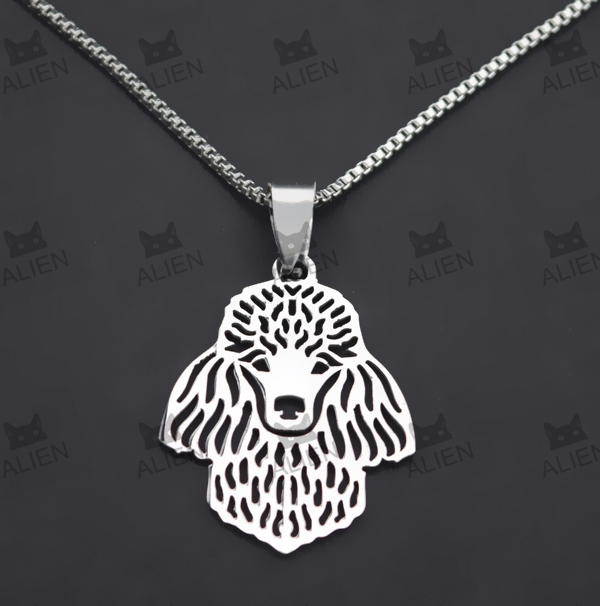 1 PCS FREE SHIPPING FASHION HIGH POLISHED 316 STAINLESS STELL POODLE NECKLACE N0848(China (Mainland))