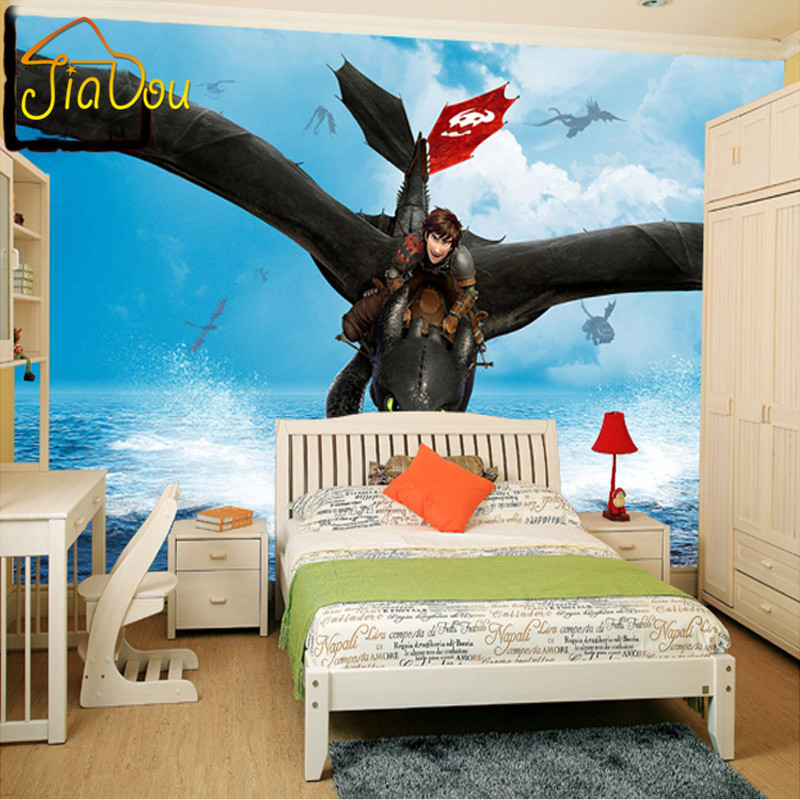 Custom mural wallpaper 3d how to train your dragon mural for Chinese movie mural