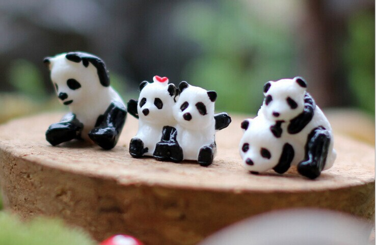Moss micro landscape national treasure panda doll accessories Mini DIY assembly of small ornaments(China (Mainland))