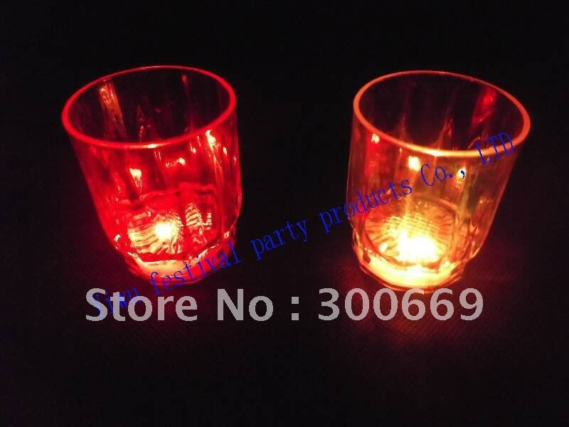 LED cup Promotion Flashing glasses freeshipping wholesale&retail Halloween christmas party gift(China (Mainland))