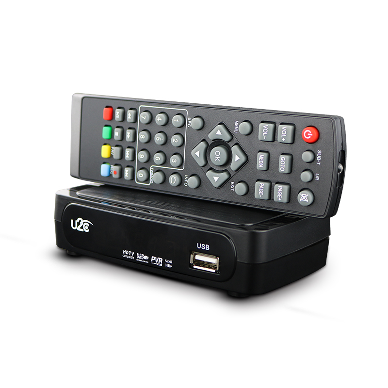 Tv Box U2C Tv Receiver Dvb-t2 Set-Top Box DVB T2 Digital Video Broadcasting Terrestrial Receiver DVB T/T2 Set Top Box TV Set(China (Mainland))