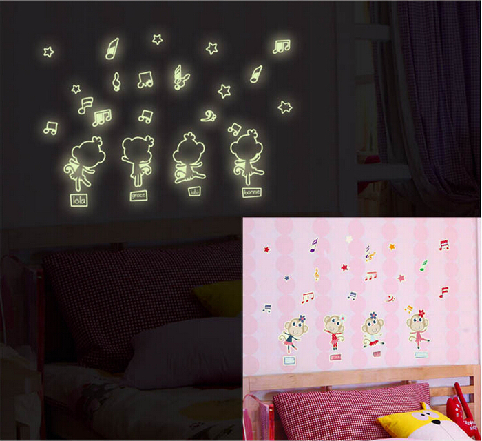 Buy New Arrive Y0021 Night Light Luminous Wall Stickers Home Decor Home