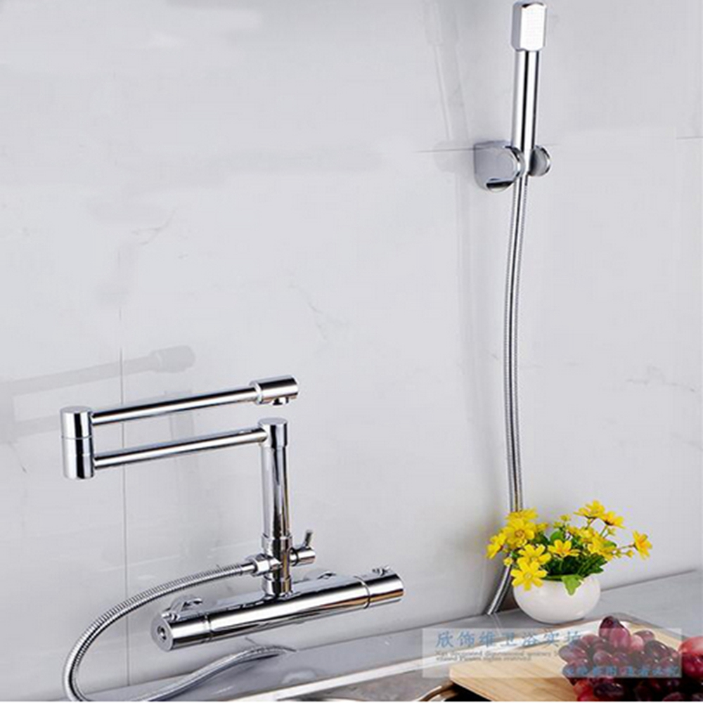 Wall mounted faucet bathroom