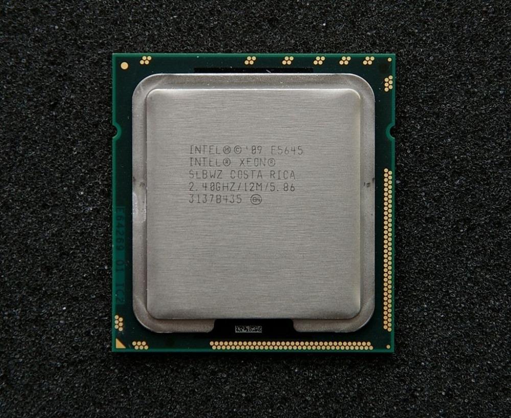 SLBWZ Intel Xeon E5645 Six Core 2.40GHz 12M 5.86GT/s LGA 1366 CPU Processor(China (Mainland))
