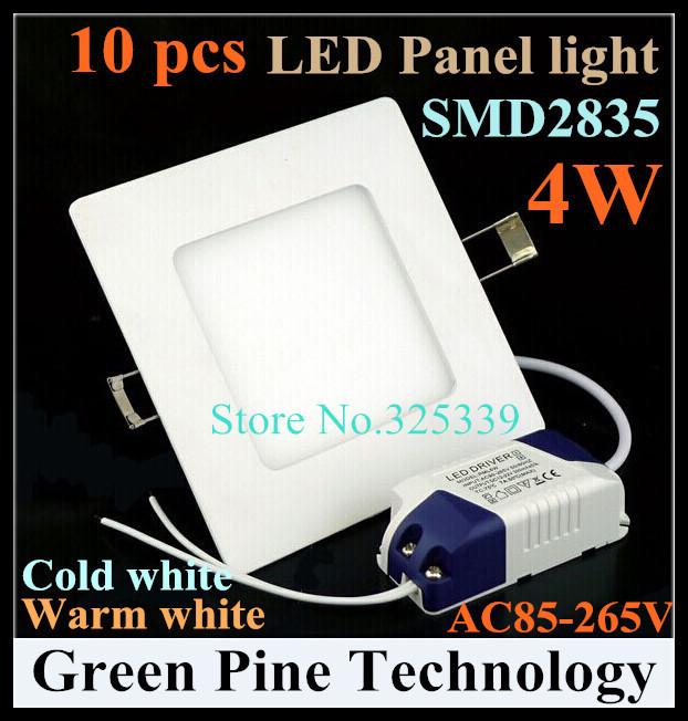 FedEX Free shipping 10 pcs Square led panel light 4W 320LM AC85-265V 2835 SMD led ceiling light bulb spotlight lamp lighting<br><br>Aliexpress