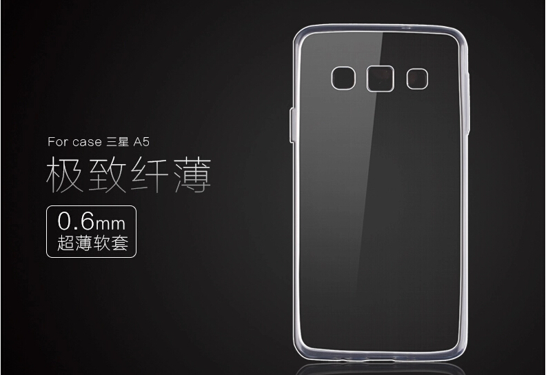 Ultra Thin Silicon Soft High Clear Case for Samsung Galaxy A5 A500 Crystal Clear TPU phone Cases Cover For Samsung A5 a500 TPUA5
