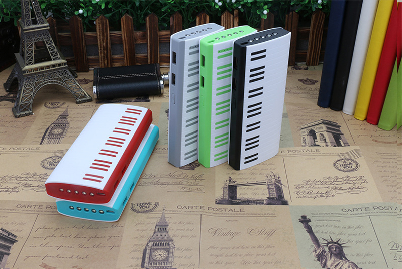 New Piano Dual USB output 10000mAh Power bank Portable External Battery pack Charger For iphone Xiaomi samsung mobile phones