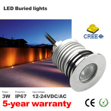 3pcs Led underground light with cree chip