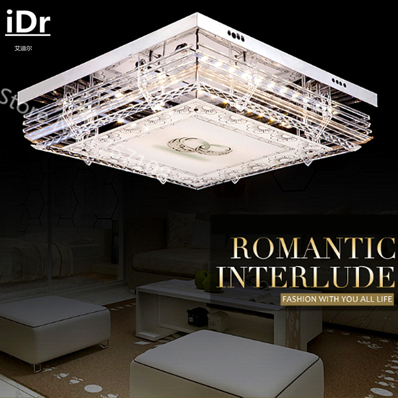 Living room living room bedroom led ceiling lights Promise dimming flat crystal lamp low pressure iDr-0127(China (Mainland))