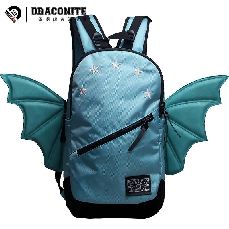 Draconite - Fashion Brand Hip-hop Men Women StudentsTeenage bookbag Travel Laptop school bag Bat Five Stars PU backpack 11201<br><br>Aliexpress