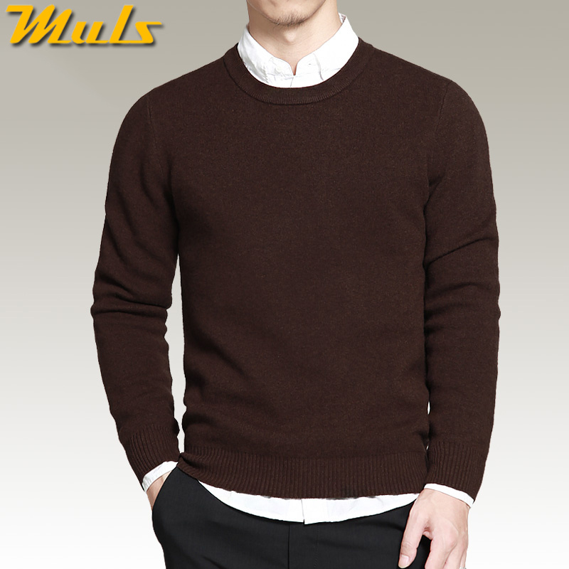 8 colors mens pullover sweaters Simple style cotton knitting O neck long sleeve jumpers big size 2XL 3XL 4XL Muls brand MS16002