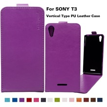 Buy Brand New Business Style Case Sony Xperia T3 M50W D5102 D5103 D5106 PU Leather Flip Case Cover 14Colors Vertical Magnetic for $3.70 in AliExpress store