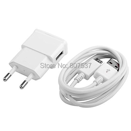 USB Cable EU Plug 2A Wall Charger Adaptor 1M Micro Data Sync Charging Samsung Galaxy Note 2 S3 s4 i9500 - Emoocc e-store store