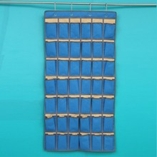 42 Pockets Grids 114*58cm Classroom Door Home Wall Hanging Organizer Cards Phones Storage Bag Holder Oxford Cloth