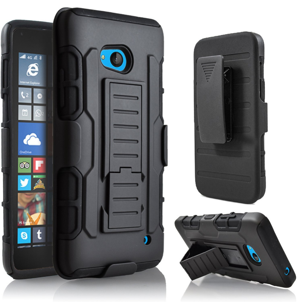 Case For MicroSoft for Lumia 640 Heavy Duty Shockproof Armor Clip Cover Hard Case Holster+Film+Stylus(China (Mainland))