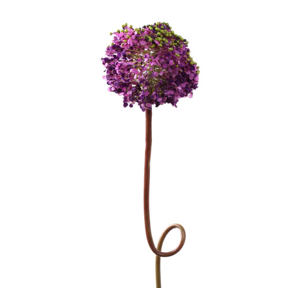 37 Onion Foxtail Lily Silk Flower Single Stem In Purple Nearly