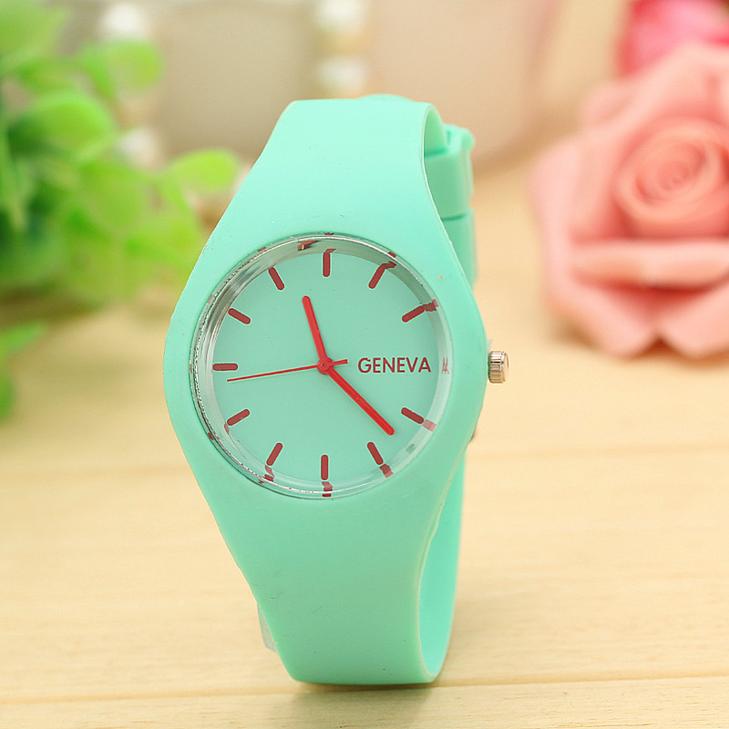 Гаджет  2015 Free Shipping!Top Brand Silicone Rubber Watch Hot Classic LUXURY Quartz Dress Clock Women Fashion Wristwatch 12 Candy Color None Часы