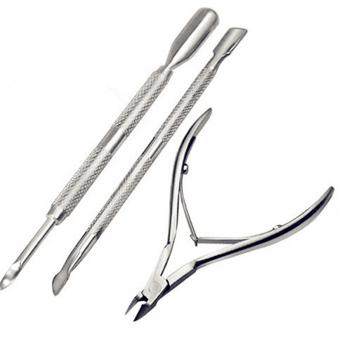 Nail modified tweezers manicure tools necessary three individual professional manicure stainless steel appliances(China (Mainland))