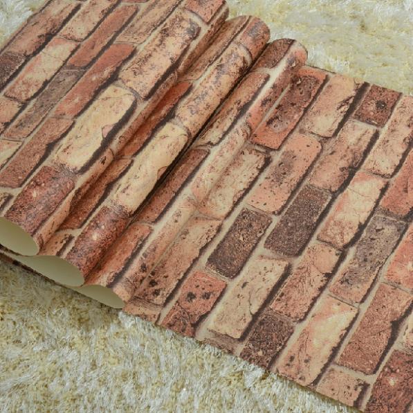 Ziegel Tapete Wohnzimmer : Natural Rustic Brick Wall
