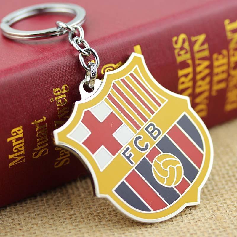 Soccer Football Club LOGO Keychain Spain football club barouman coiners Metal badge key chain for fans Chaveiro Jewelry Gifts(China (Mainland))