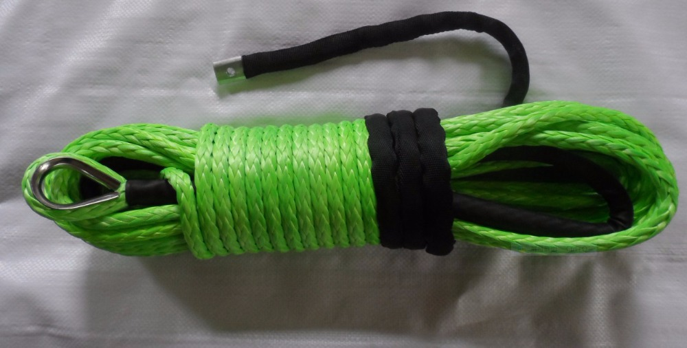 free shipping 12mm*30m SK75 winch rope,synthetic winch line for auto parts,kevlar winch rope(China (Mainland))