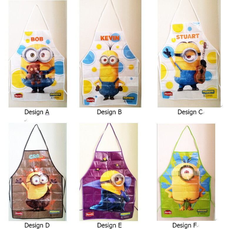 wholesale Despicable Me2 Minions funny novelty kids children kitchen cook Waterproof Aprons Painting cleaning Apron gift(Hong Kong)