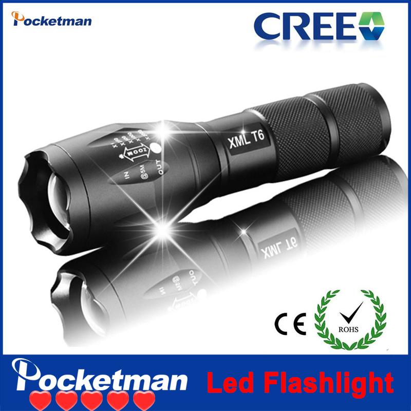 zk98 E17 Hot Super Top Selling Style 2000LM LED Flashlight CREE XML T6 LED Cree Led flashlight Torch 5-Mode AAA/1x18650 battery(China (Mainland))