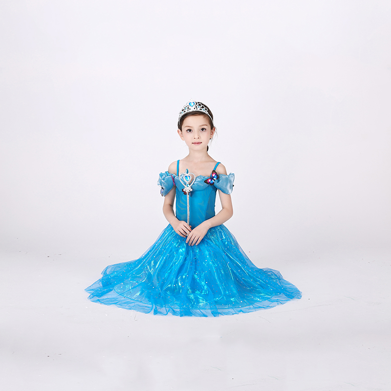 Cinderella Kids Adult Princess Dresses Anime Cosplay Clothes Inflatable Dresses Halloween Costumes For Women Cartoon Characters(China (Mainland))