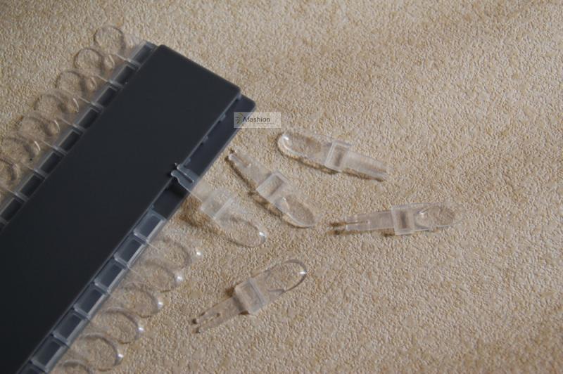 24 pontas das unhas de acrílico Nail Art adesivo transparente para revelar quadro