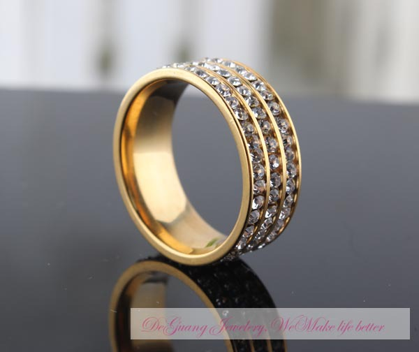 Free Shipping Classic Crystal Ring 18K K Gold Plated Wedding Ring Made with Genuine Austrian Crystals Full Sizes Wholesale(China (Mainland))